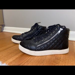 Steve Madden black quilted high tops